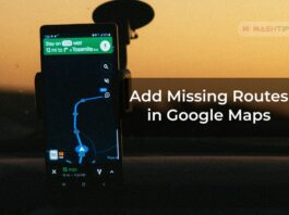 Add Missing Routes in Google Maps