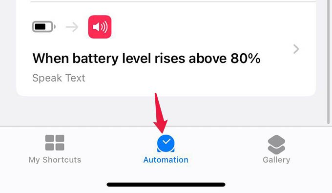 Automation in Shortcuts App
