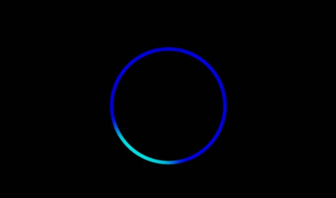 Blue Ring With A Cyan Section Ring Light in Alexa