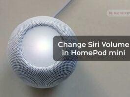 Change Siri Volume in HomePod mini