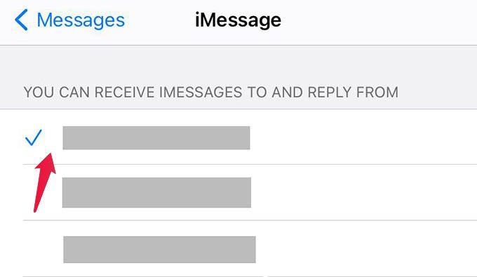 Change iMessage Number on iPhone
