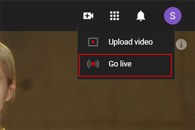 Create Live Streaming in YouTube