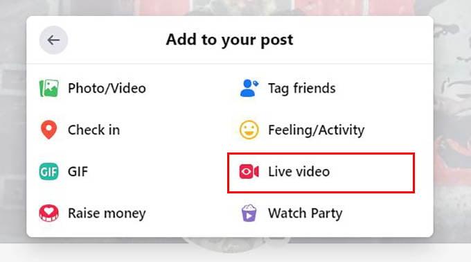Create Live Video in Facebook