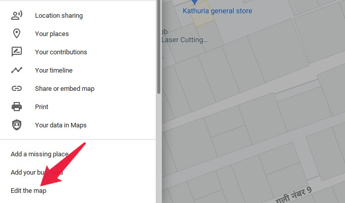 Select edit the maps from menu