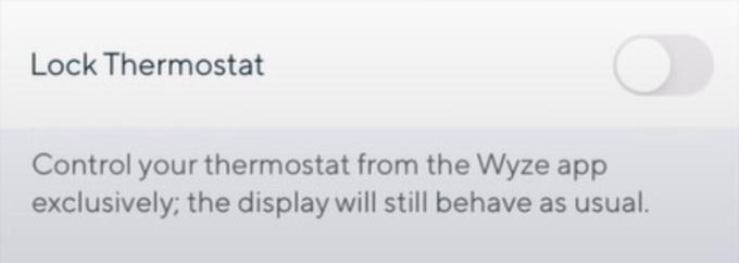 Lock Wyze Thermostat