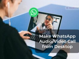 Make WhatsApp Audio Video Call from Desktop