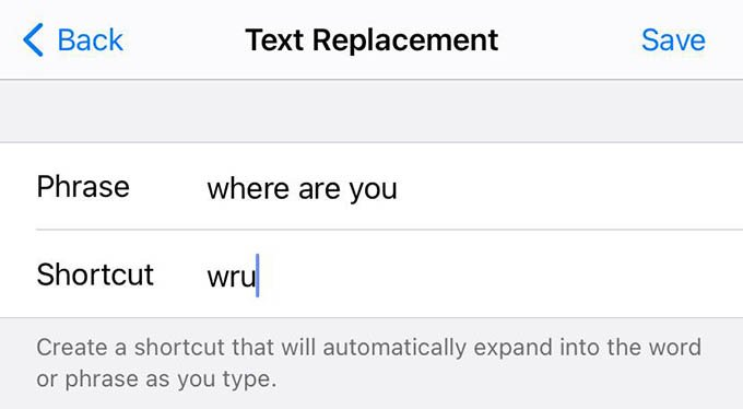 New iPhone Text Shortcut Keyboard