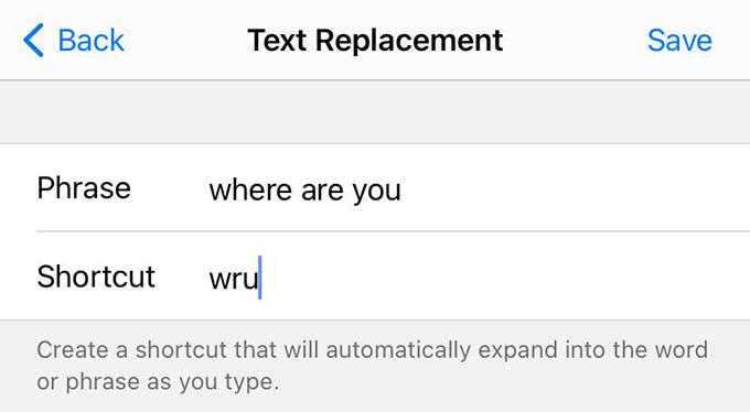 New iPhone Text Shortcut Keyboard
