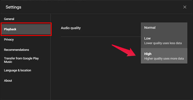 Play High Quality Audio in YouTube Music on Desktop Web