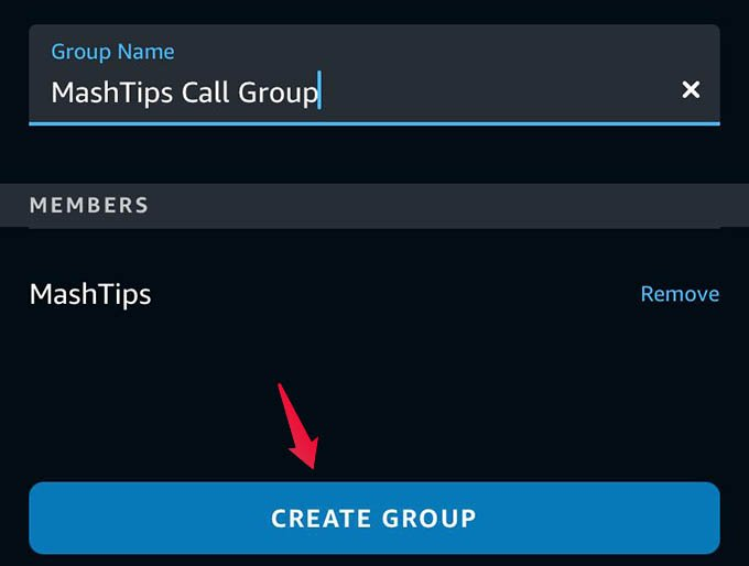 Provide Name and Create Group in Alexa