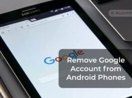 Remove Google Account from Android Phones