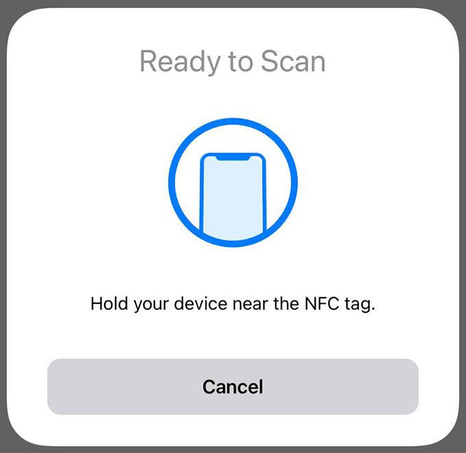Scan NFC Tag on iPhone