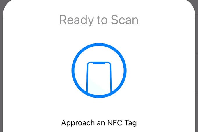 Scan an NFC Tag to Write