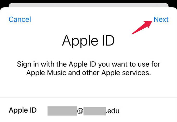 Sign in to New Apple ID on iPhone App Store and Apple Music