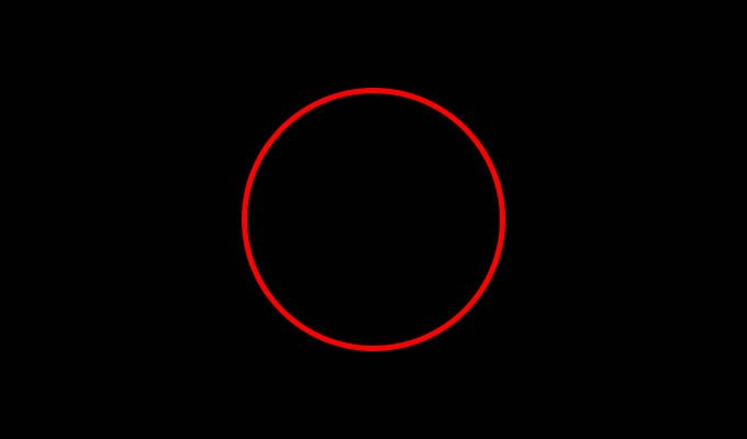 Solid Red Ring Light in Alexa