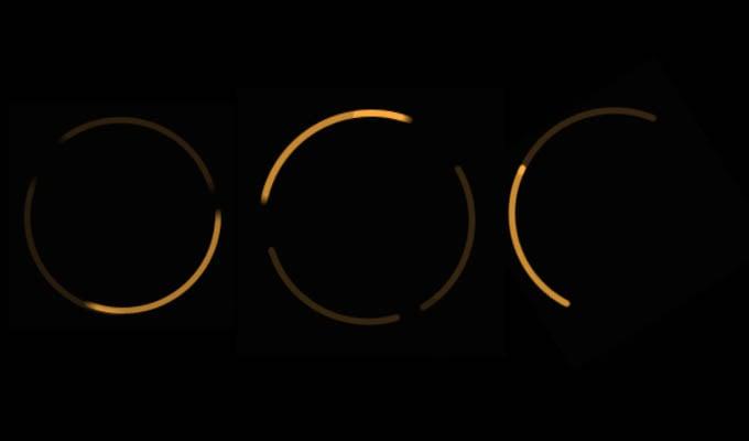 Spinning Orange Ring Light in Alexa