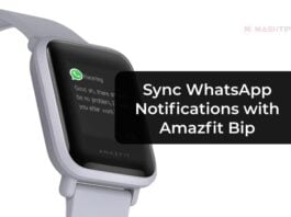 Sync WhatsApp Notifications with Amazfit Bip