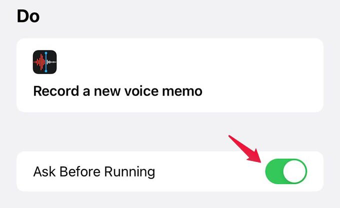 Turn off Automation Ask Before Running