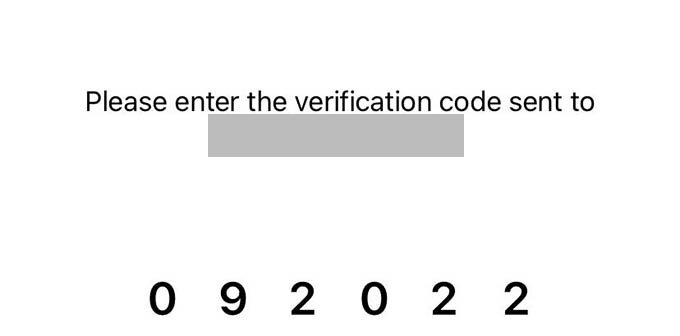 Verify Phone Number on iPhone