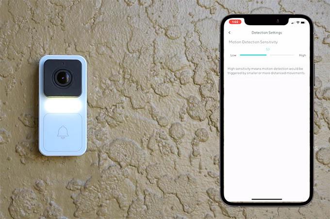 Wyze Doorbell Camera Motion Detection Sensitivity