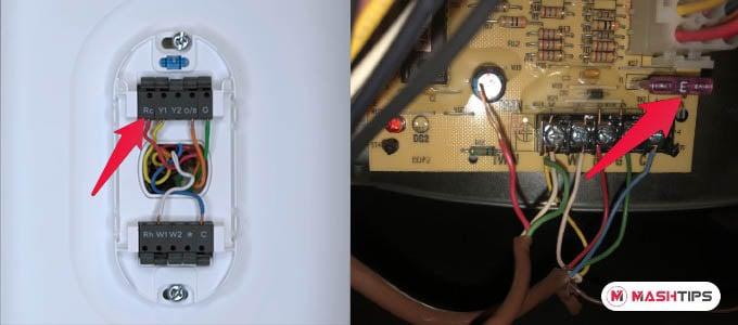 Wyze Thermostat RH Wire Diagram