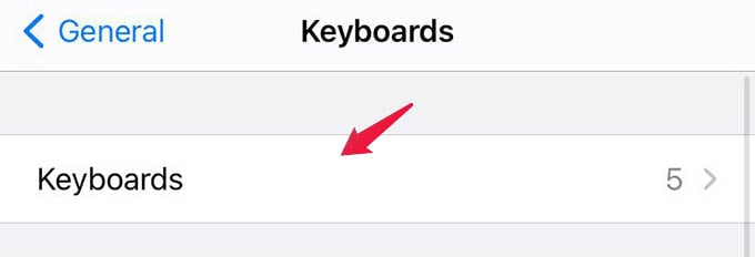 iPhone Installed Keyboards