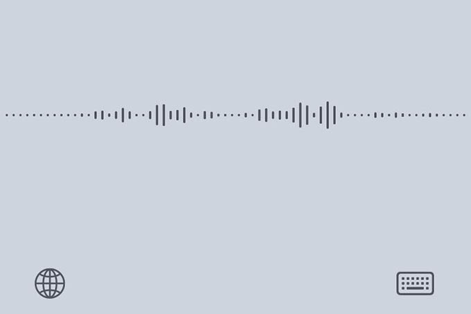 iPhone Keyboard Voice Typing