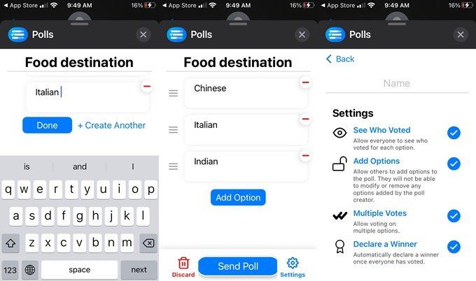voting app for iMessage