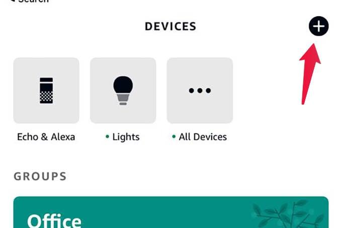 Add New Device in Alexa App