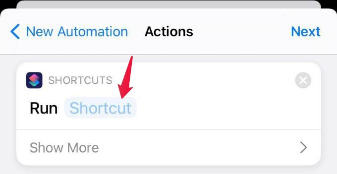 Add Shortcut to Run in iPhone Siri Automation