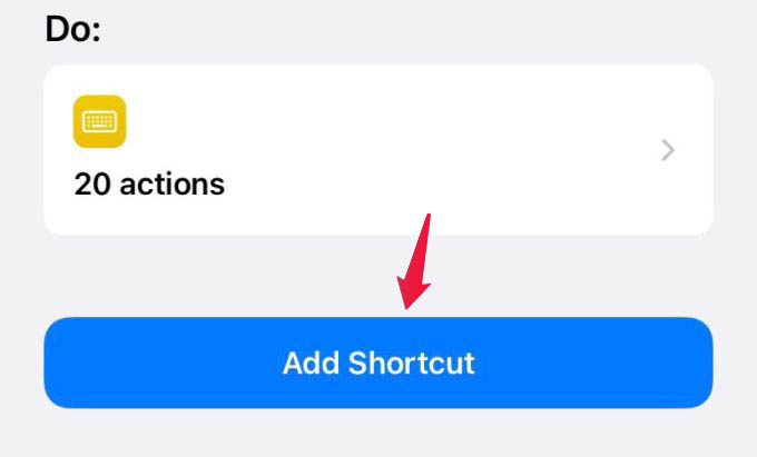 Add Shortcut to iPhone