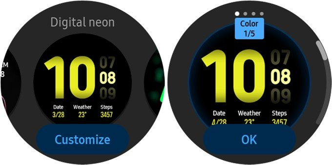 Change Galaxy Watch Face from Watch and Customize