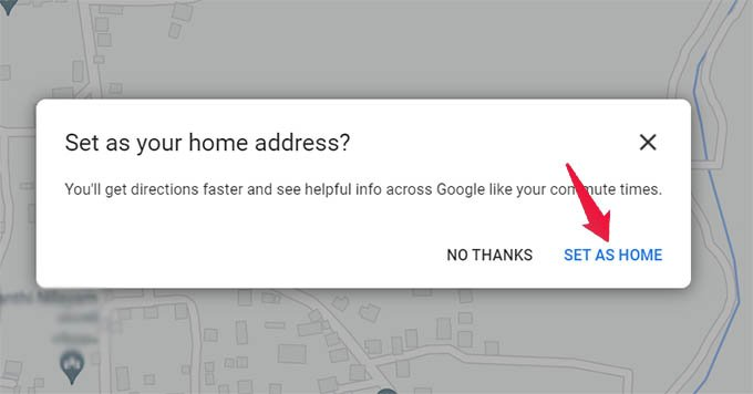 Change Home Address on Google Maps from PC