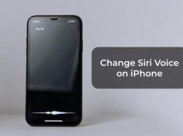 Change Siri Voice on iPhone