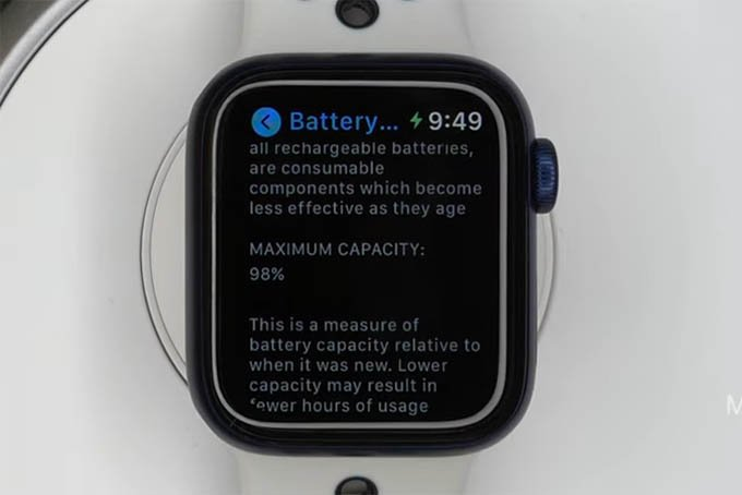 Check Battery Health on Apple Watch