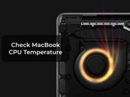 Check MacBook CPU Temperature