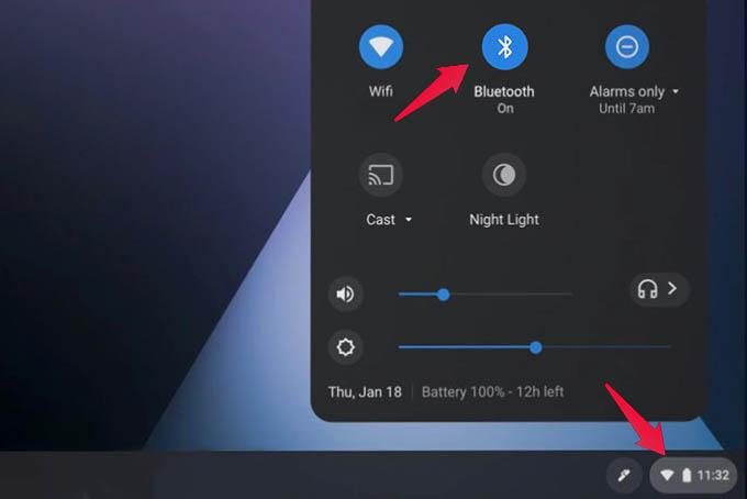 Chromebook Bluetooth Settings