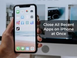Close All Recent Apps on iPhone at Once