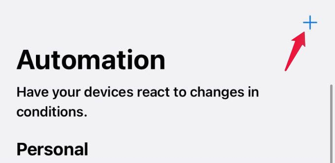 Create New Automation iPhone