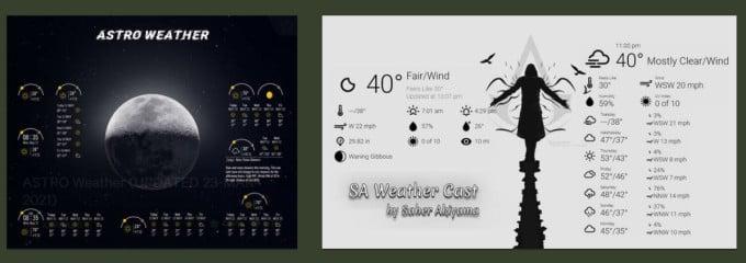rainmeter weather widgets for windows  on devian art