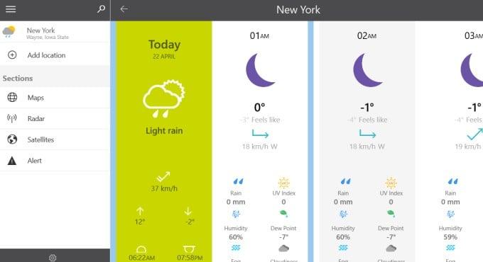 weather 14 days windows app