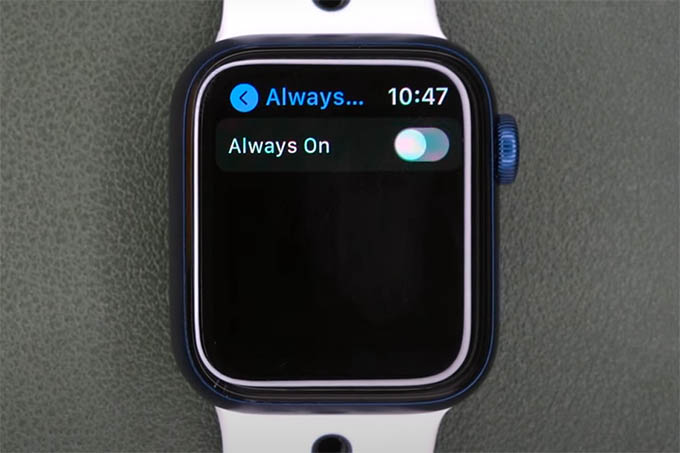 Disable Always On Display on iPhone