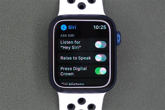 Disable Hey Siri on Apple Watch