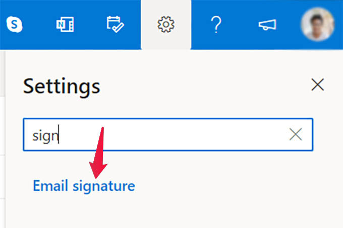 Email Signature Settings in Outlook Web