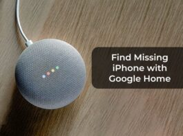 Find Missing iPhone with Google Home