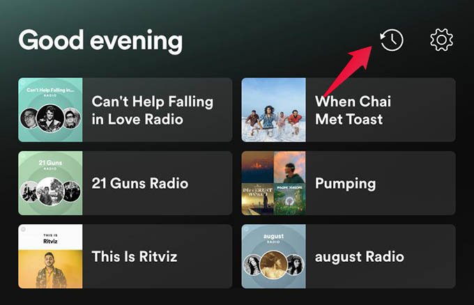 Get Spotify History or Spotify Listening History