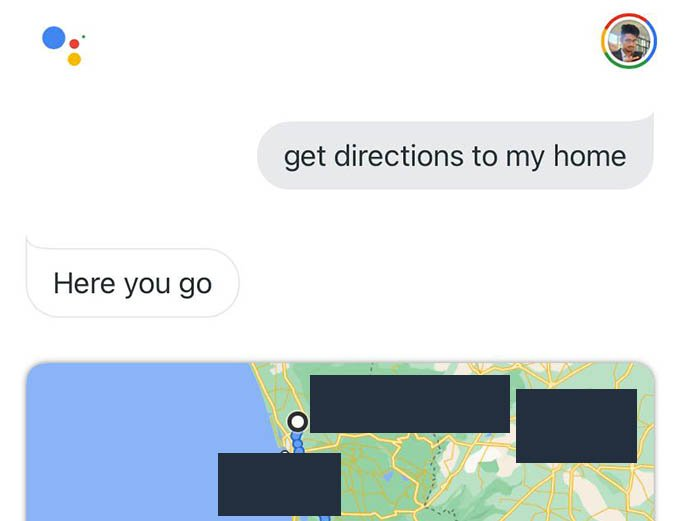 Google Assistant Navigate to Home with Google Maps