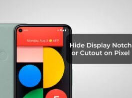 Hide Display Notch or Cutout on Pixel