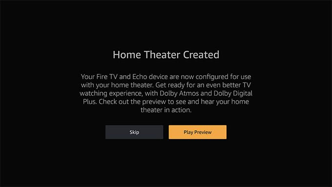 Home Theatre Created with Fire TV and Echo Speaker