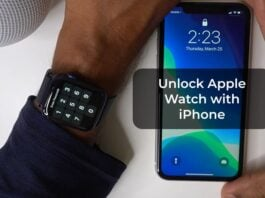 Unlock Apple Watch with iPhone